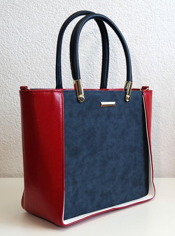 Kabelka Grosso 7022 modro-červená