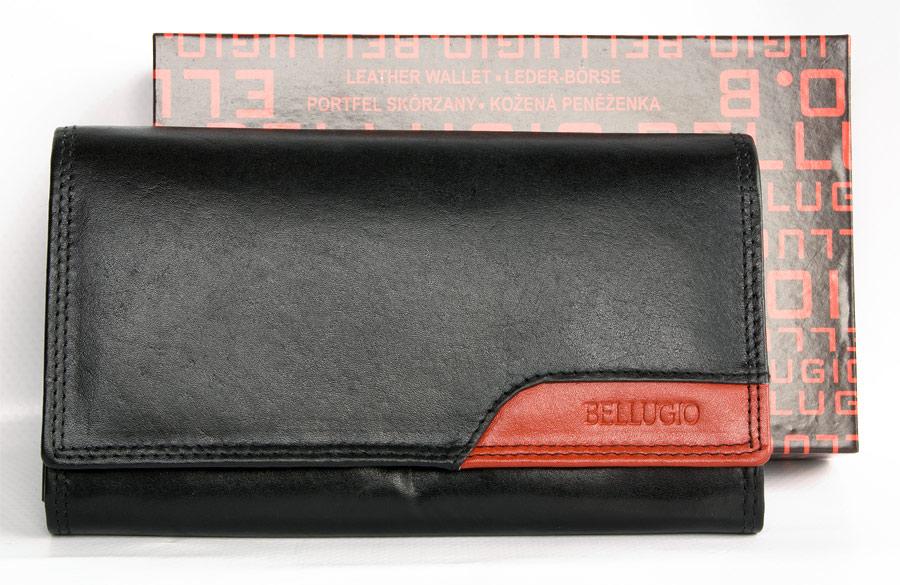 Peněženka Bellugio černočervená