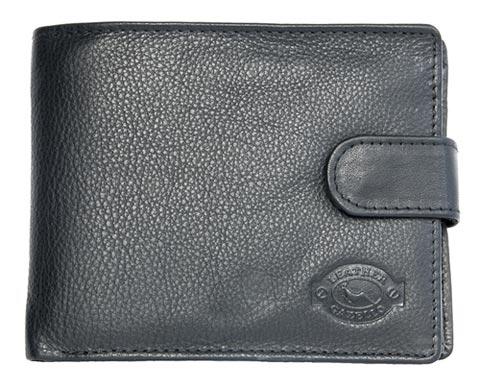 Černá pánská kožená peněženka Gazello