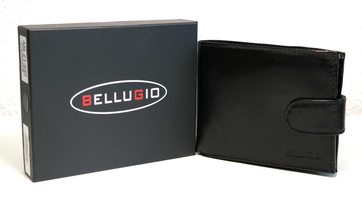 Černá pánská kožená peněženka BELLUGIO podélná