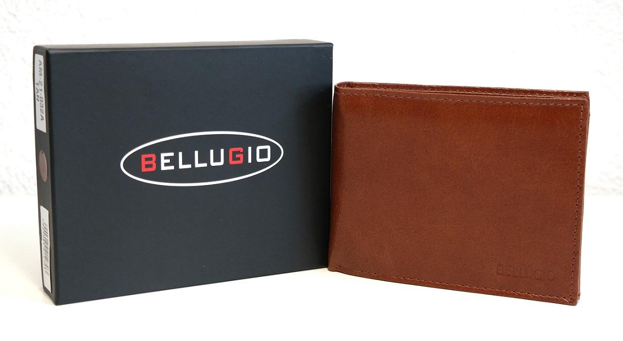 Světlehnědá pánská kožená peněženka BELLUGIO podélná