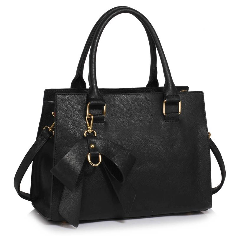 Černá kabelka do ruky LS00374C