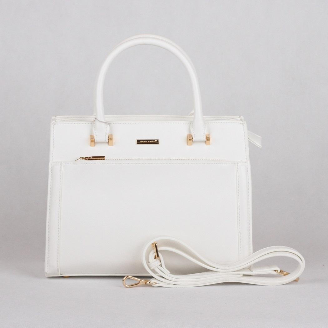 Bílá kabelka do ruky David Jones CM3097
