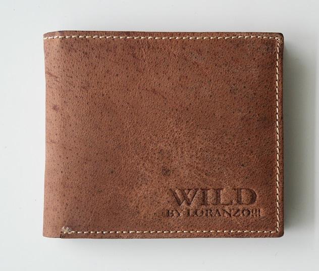 Hnědá pánská kožená peněženka WILD by Loranzo