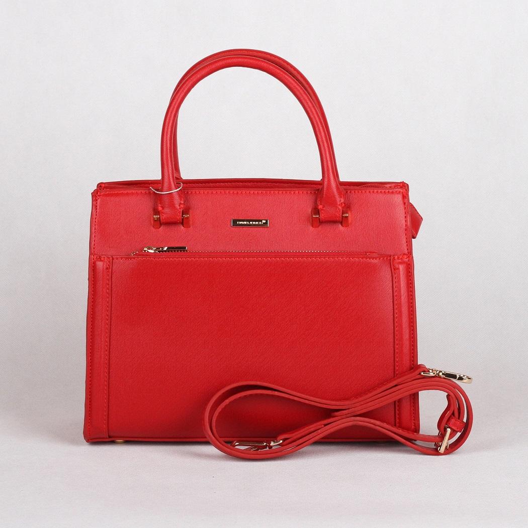 Červená kabelka do ruky David Jones CM3097