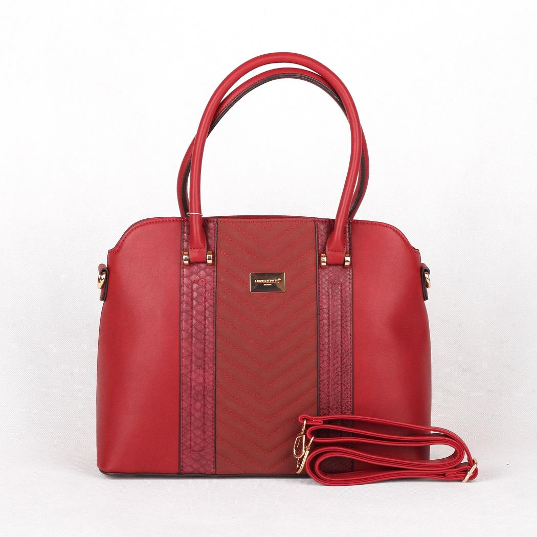 Červená kabelka do ruky David Jones 5215-2