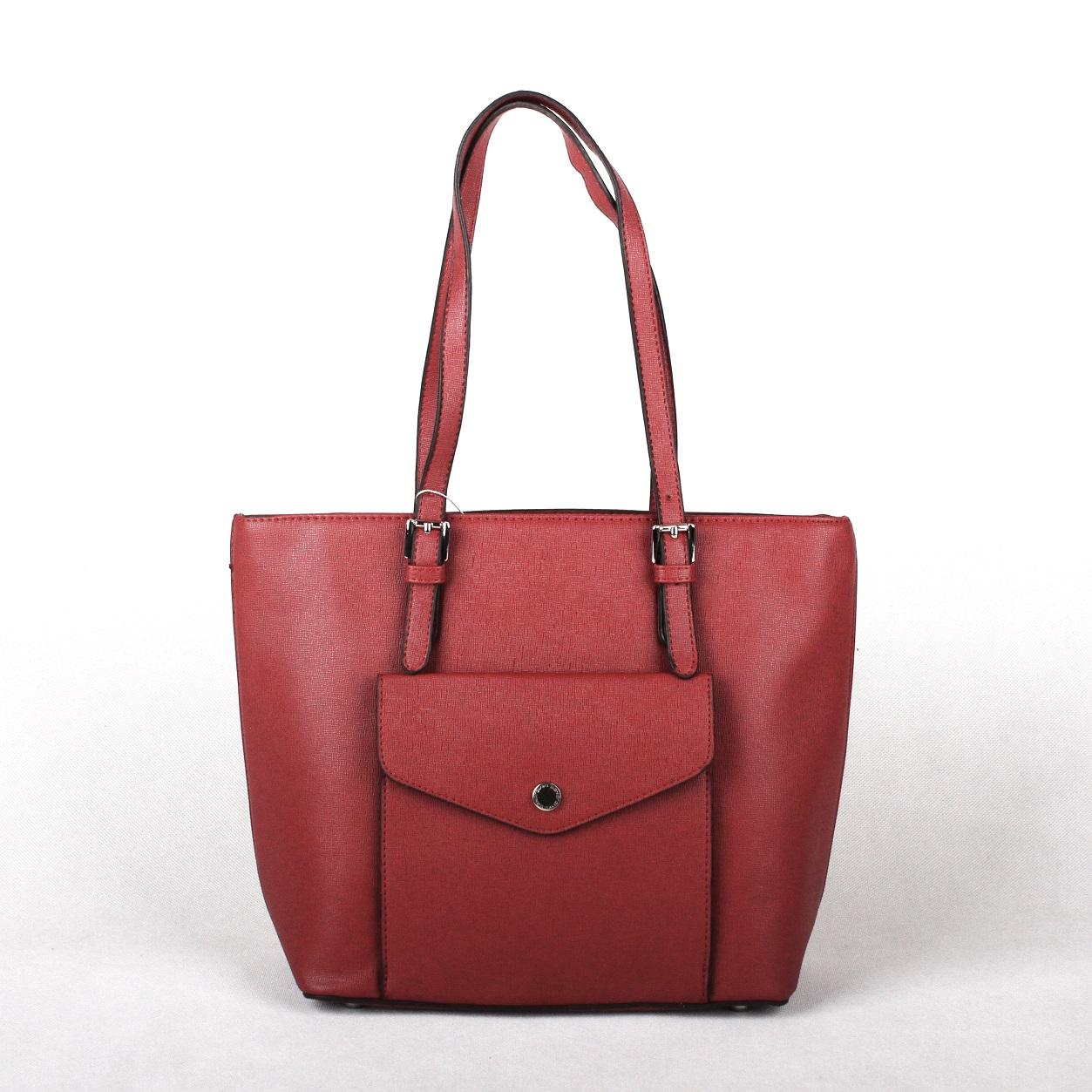 Levná tmavěčervená kabelka na rameno David Jones CM3221