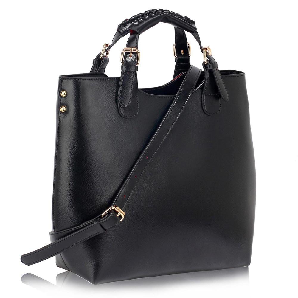 Černá velká kabelka shopperbag LS00267