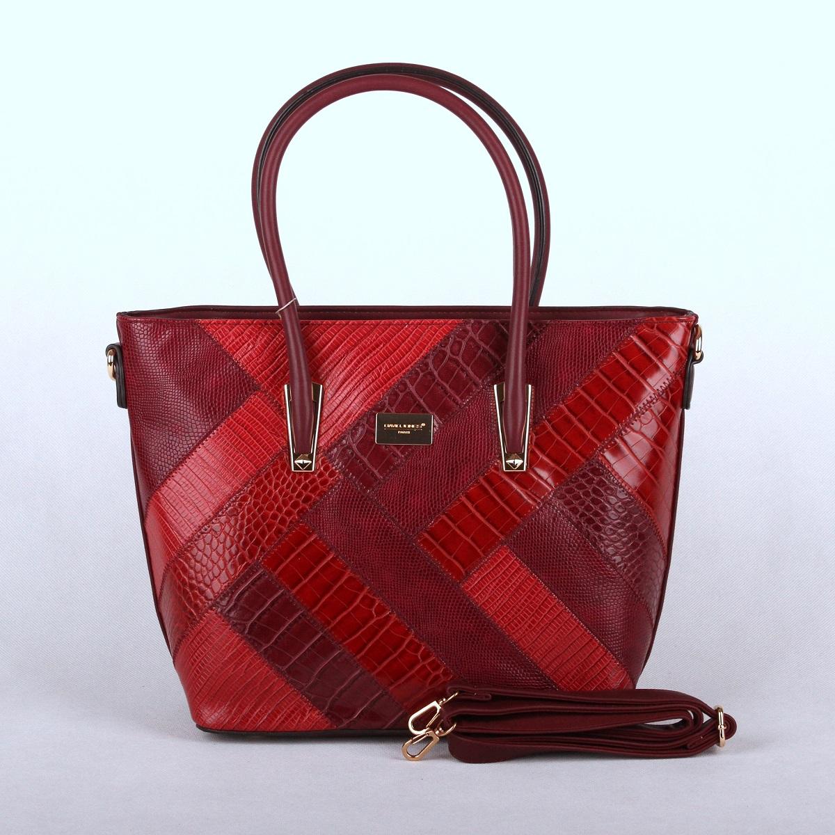 Červená (švestková) kabelka do ruky David Jones 5206-5