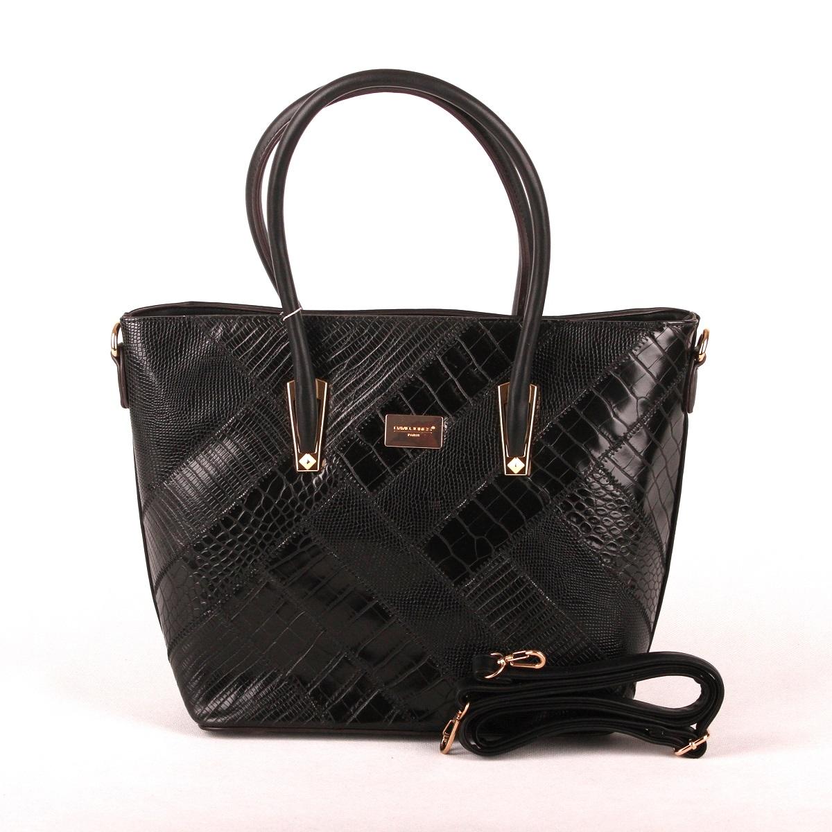 Černá kabelka do ruky David Jones 5206-5
