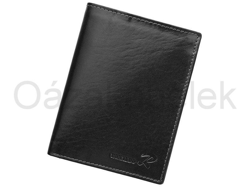Černá pánská kožená peněženka Ronaldo N4-VT