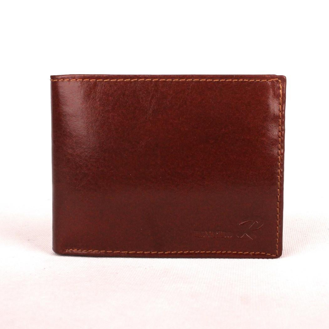 6a8b57ed2910 Tmavěhnědá pánská kožená peněženka Ronaldo N992-VT