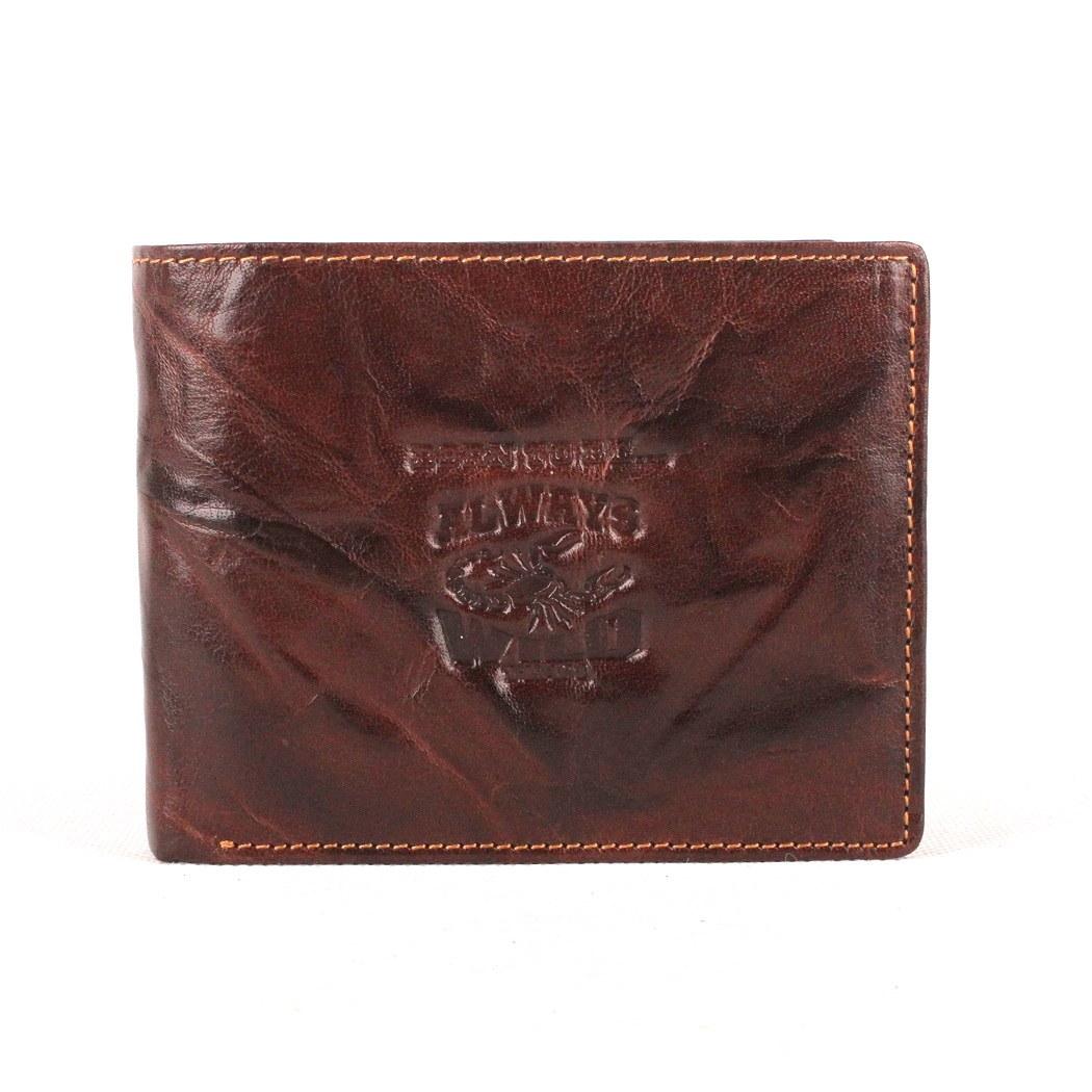 hnědá pánská kožená peněženka Always Wild N992-BC