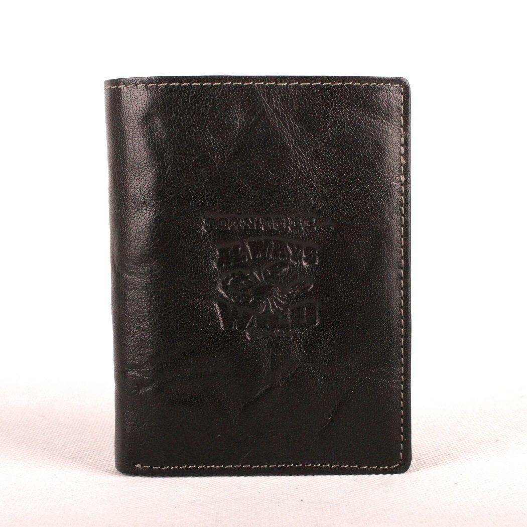 Černá pánská kožená peněženka Always Wild N4-BC se štírem