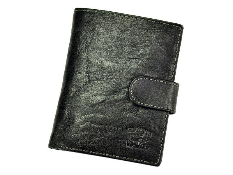černá pánská kožená peněženka Always Wild N4L-BC se štírem na upínku