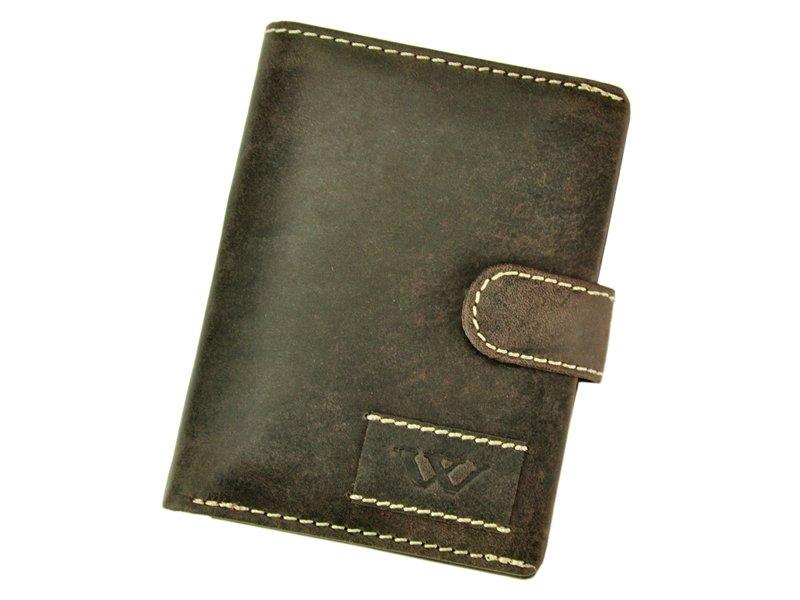 Hnědá pánská kožená peněženka Wild N4L-WA2 s upínkou
