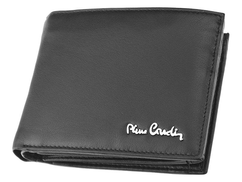 Luxusní pánská černá kožená peněženka Pierre Cardin 325