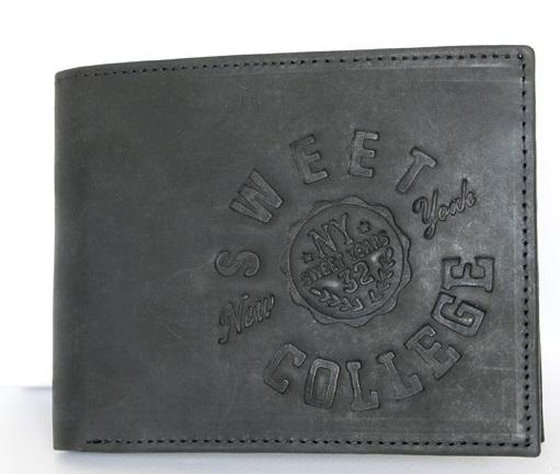 Černá pánská kožená peněženka Sweet Years 32