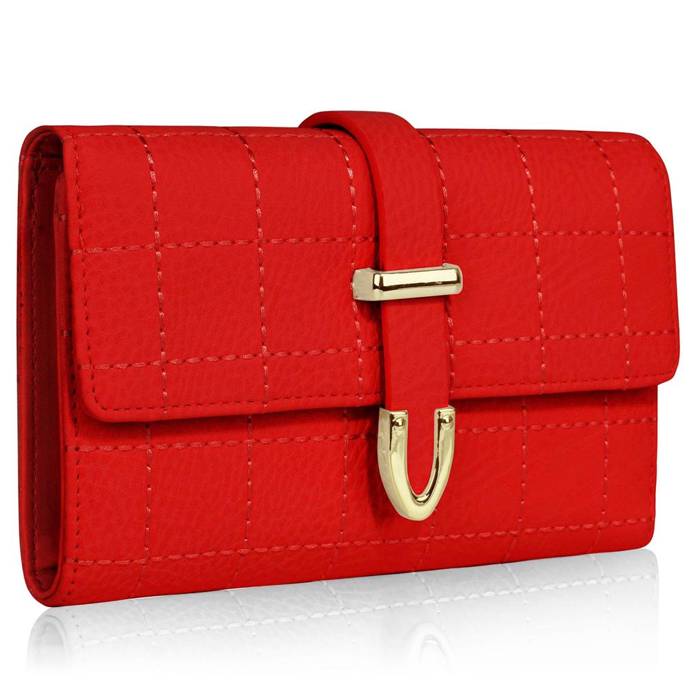 Červená levná peněženka LSP1075A