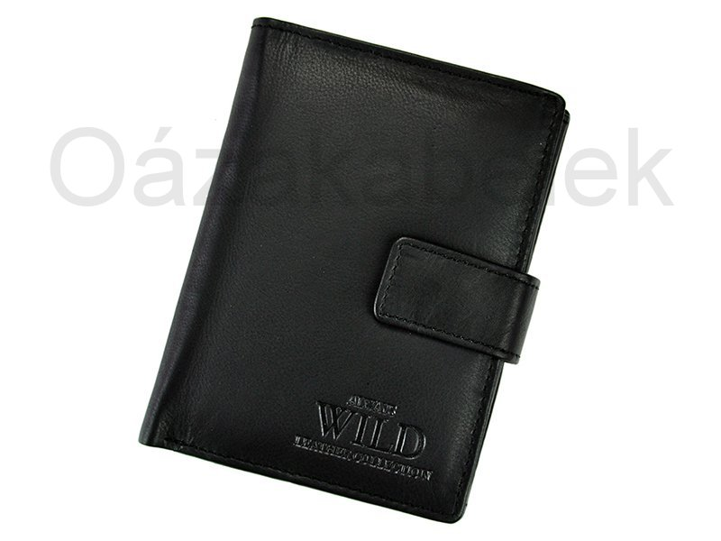 Černá pánská kožená peněženka Always Wild N890L-CCF
