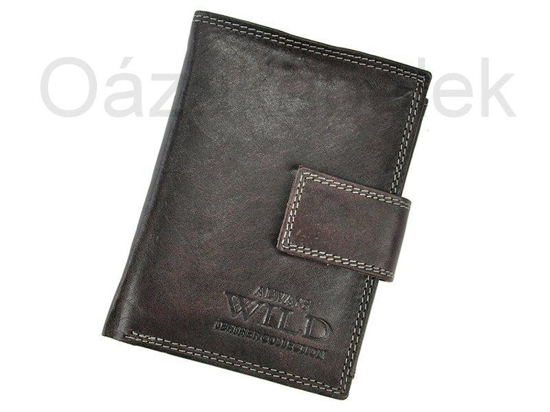 Černá pánská kožená peněženka Always Wild N4L-MCR