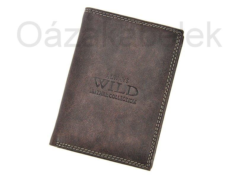 Černá pánská kožená peněženka Always Wild N4-MCR
