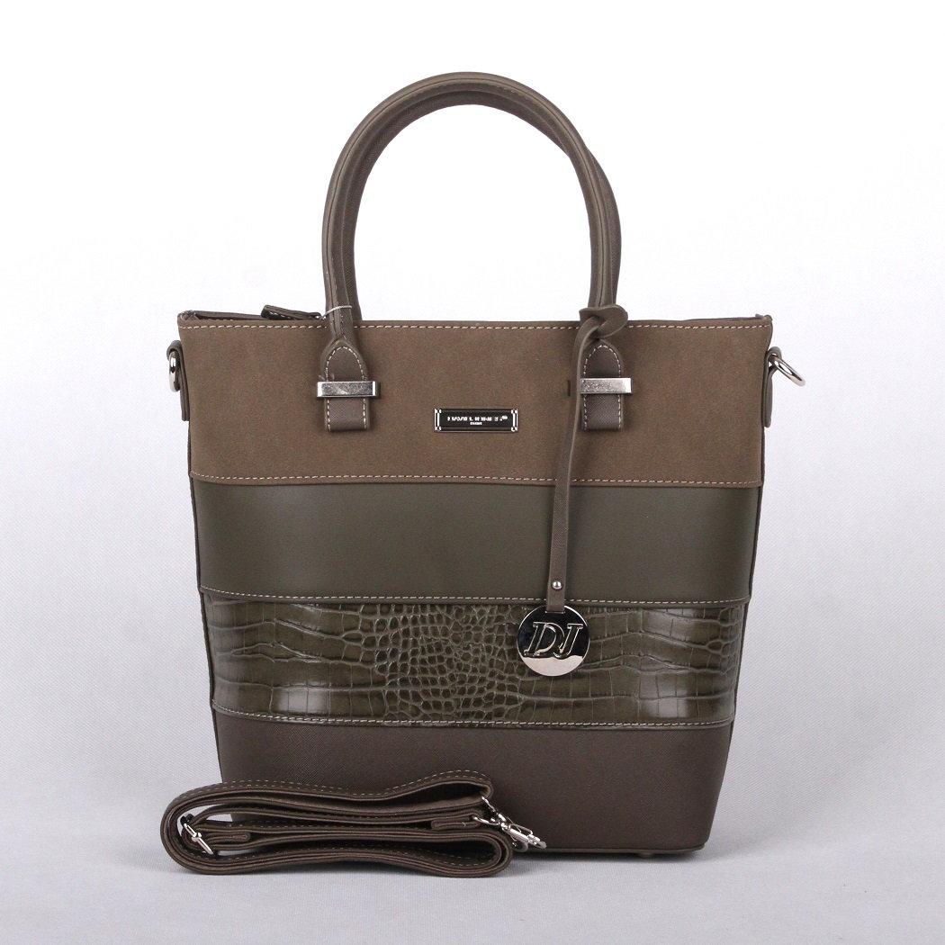 Hnědozelená (khaki) kabelka do ruky David Jones 5614-2