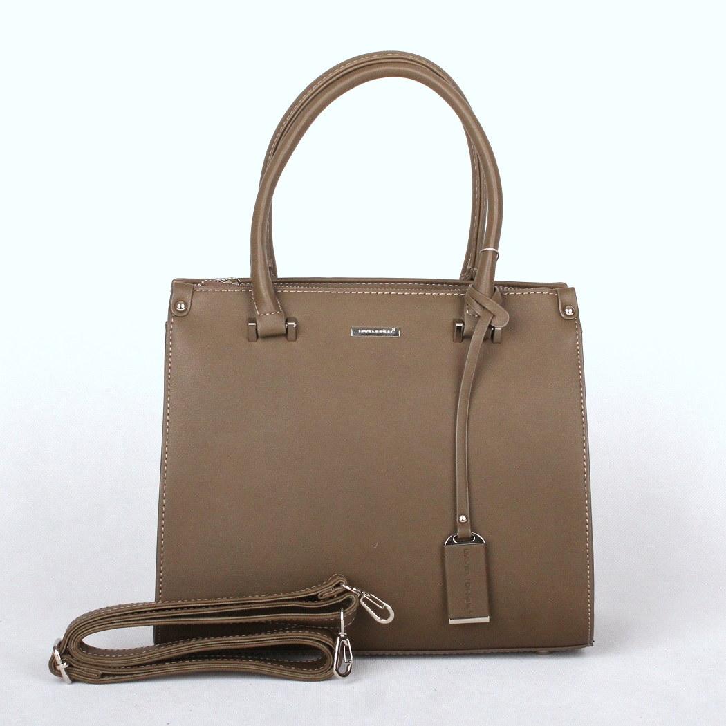 Malá khaki kabelka do ruky David Jones 5524A-1