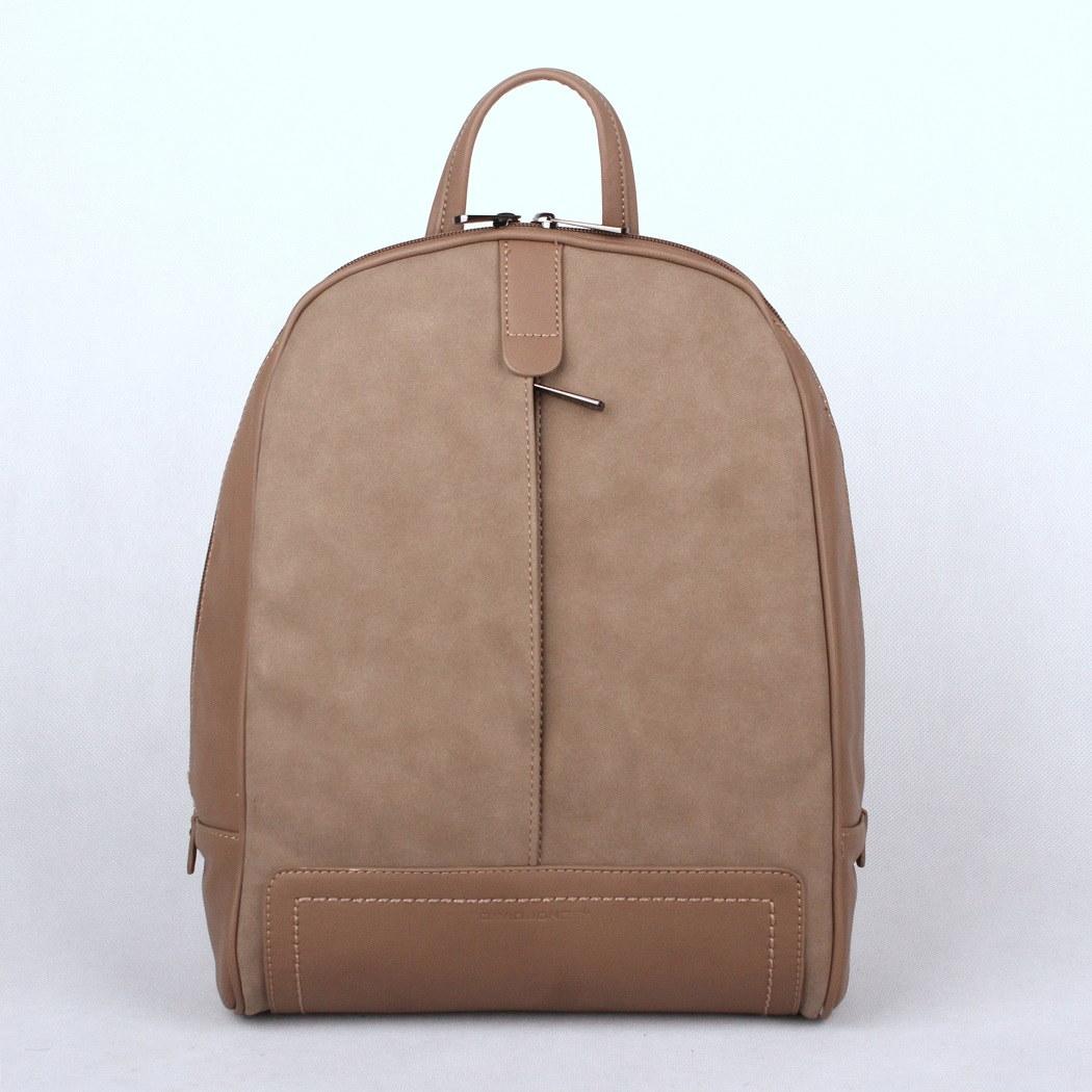 Městský středně velký hnědý batoh David Jones CM3556 s obsahem 15l