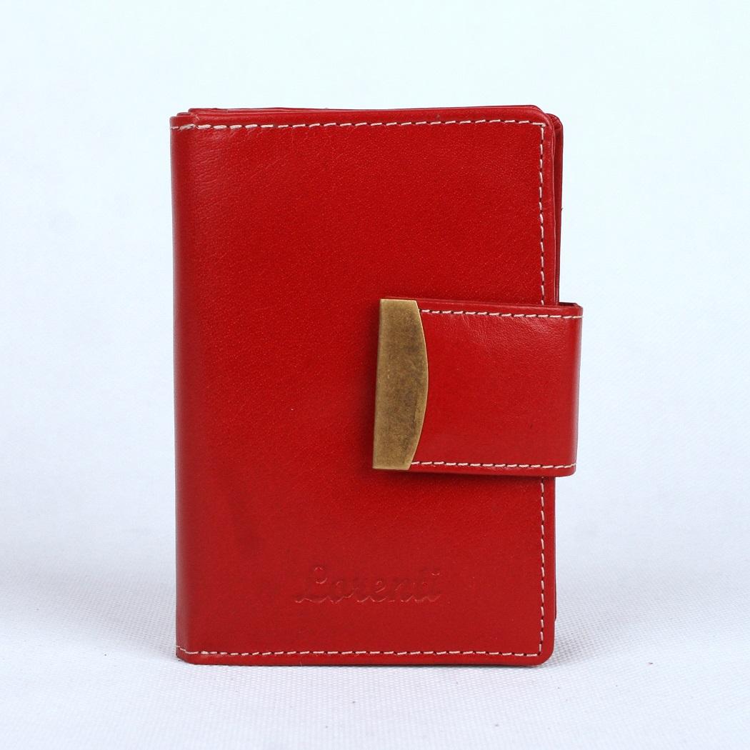 Červená kožená peněženka Lorenti
