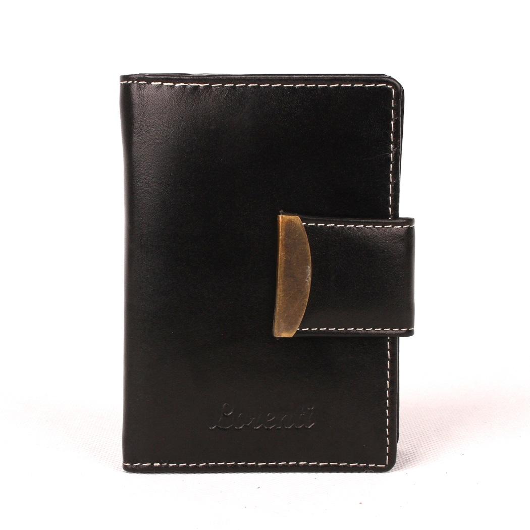 Černá kožená peněženka Lorenti