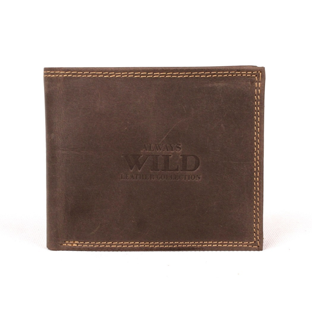 Tmavěhnědá kožená peněženka Always Wild N992-MH
