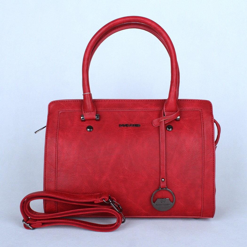 Malá červená kabelka do ruky David Jones CM3224