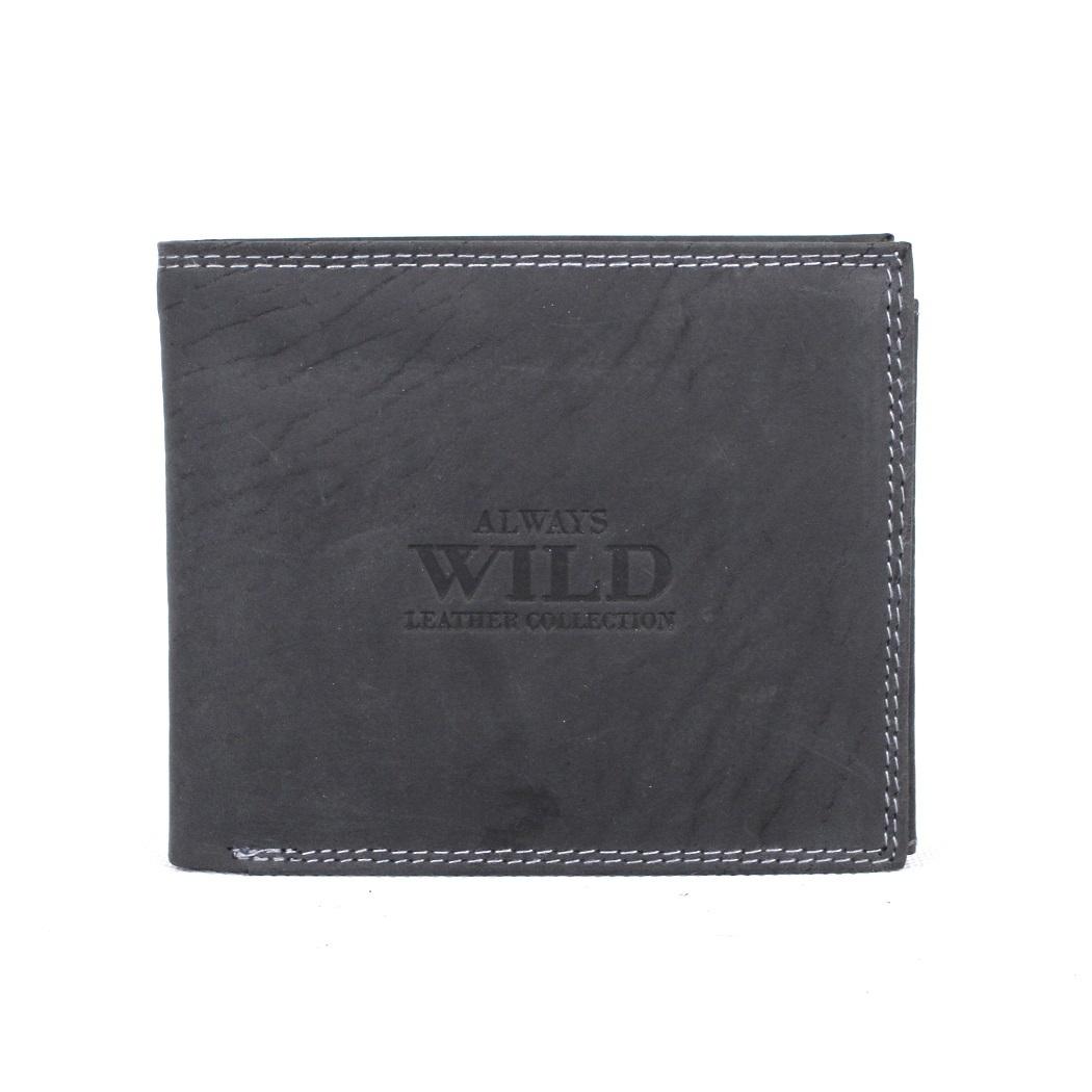 Černá kožená peněženka Always Wild N992-MH