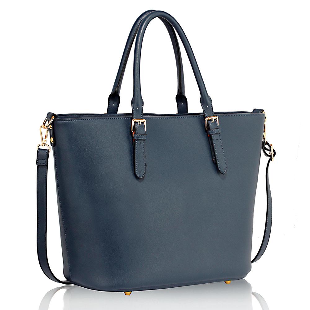 Modrá velká kabelka do ruky LS00263