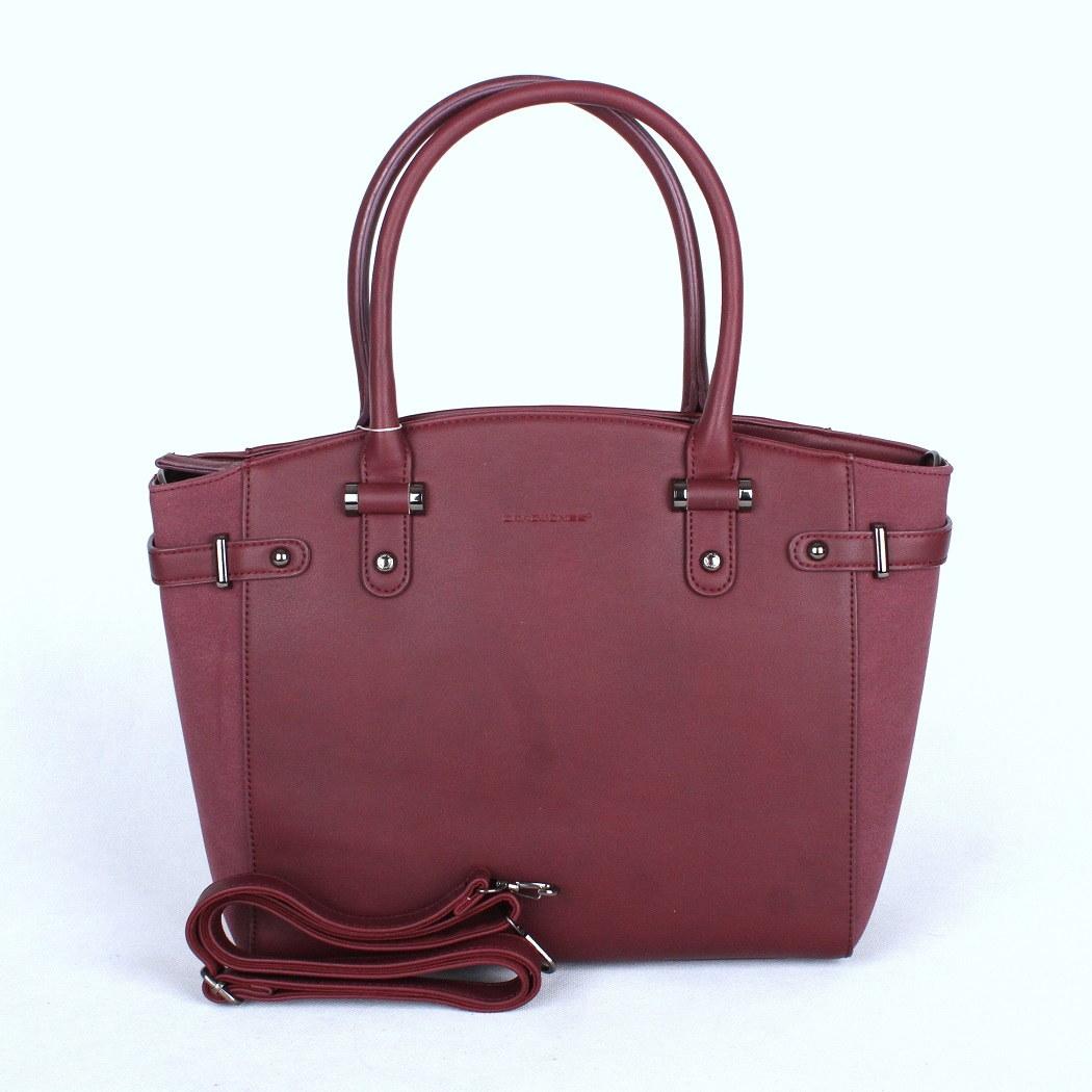 Červená (švestková) velká kabelka do ruky David Jones CM3223