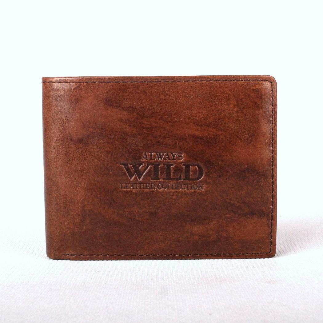 Tmavěhnědá kožená peněženka Always Wild 992-MVT