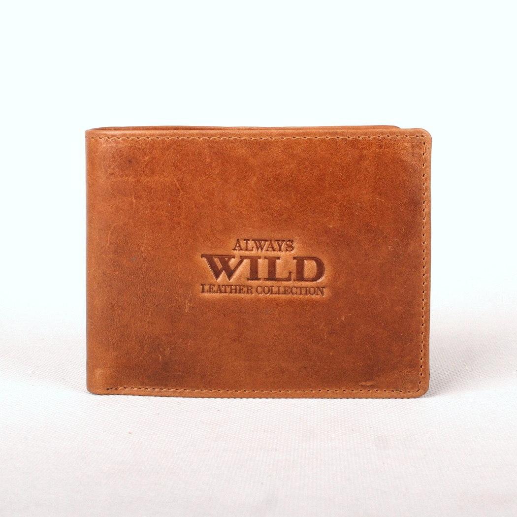 Světlehnědá kožená peněženka Always Wild 992-MVT