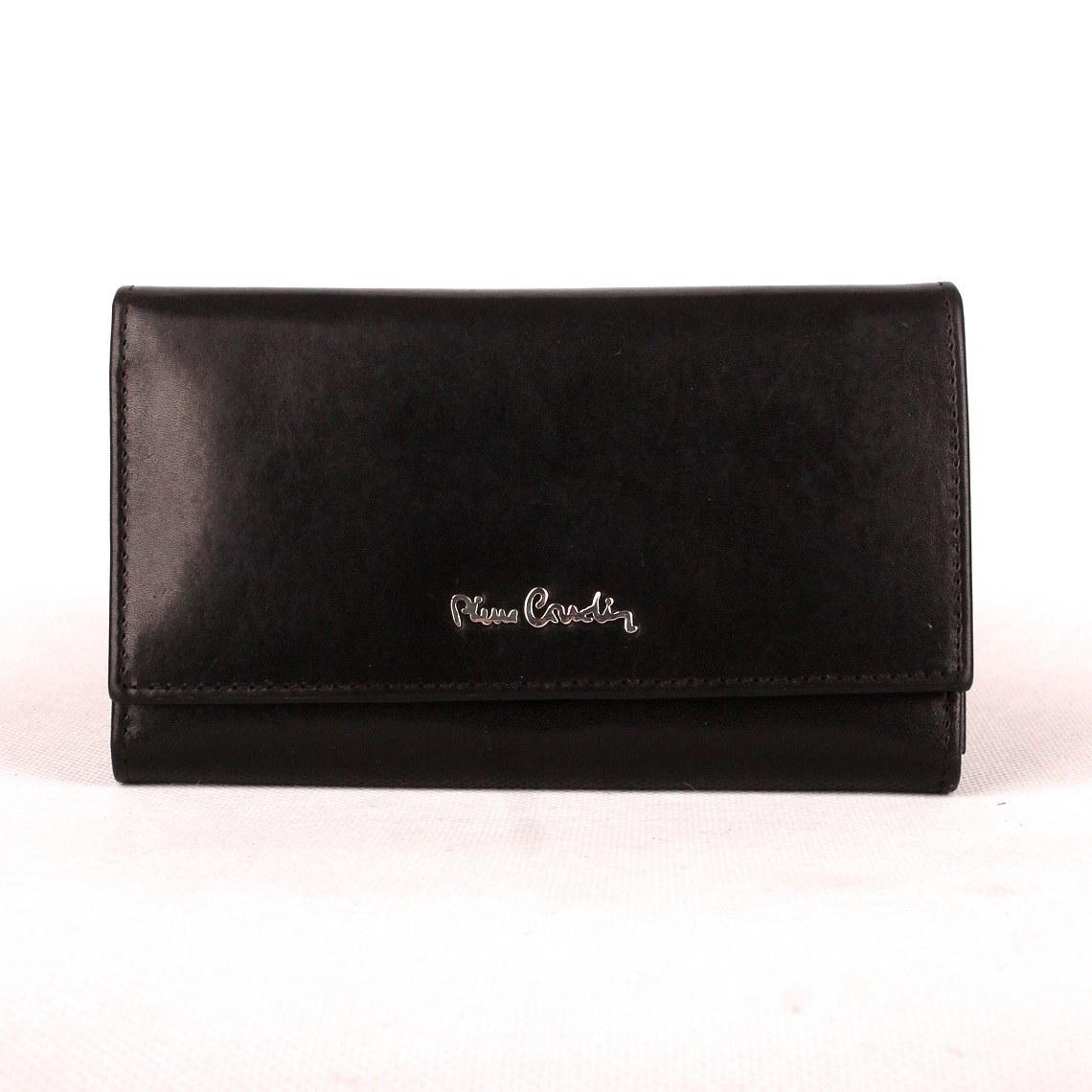 Luxusní černá kožená peněženka Pierre Cardin 455