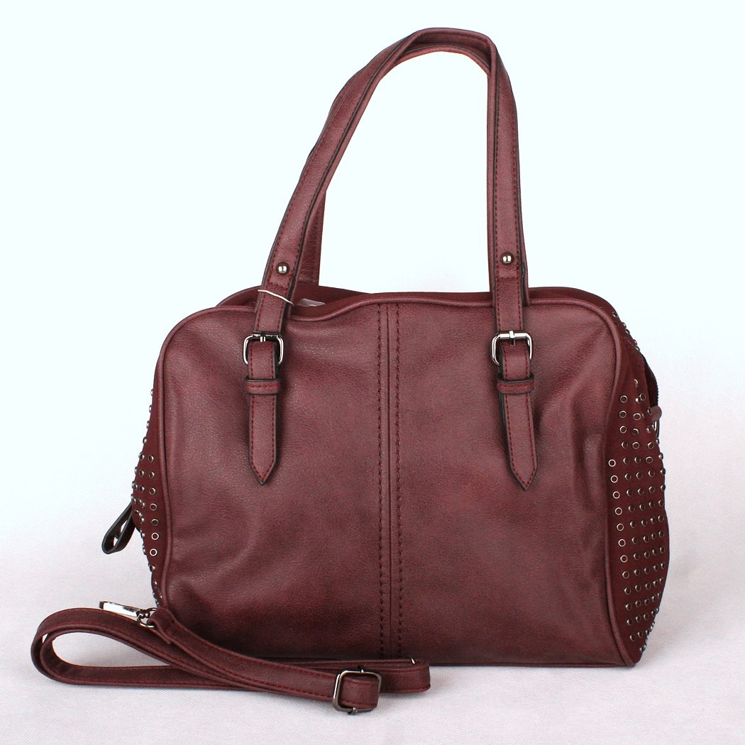 Velká tmavěčervená kabelka na rameno David Jones 5674-2