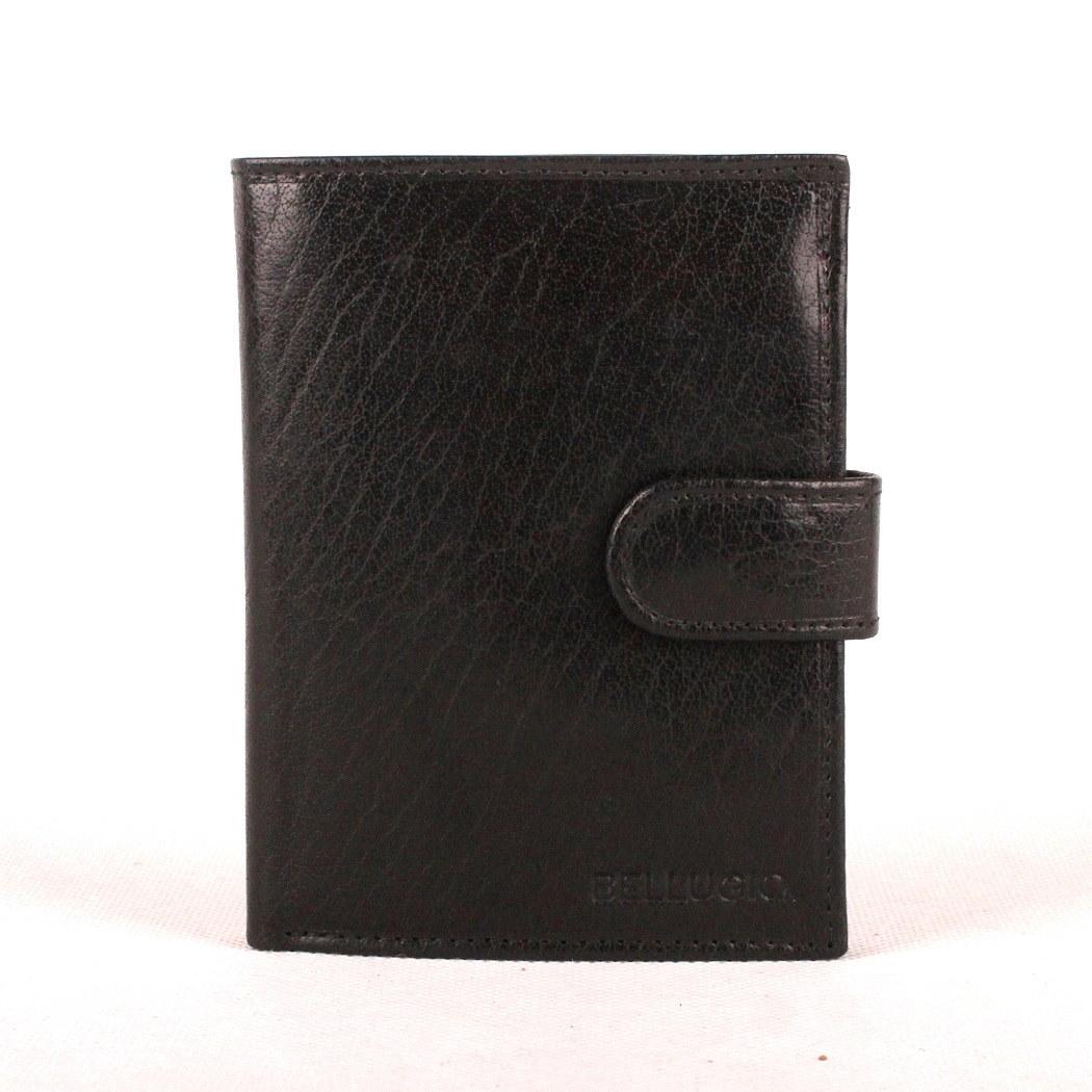 Černá kožená pánská peněženka Bellugio
