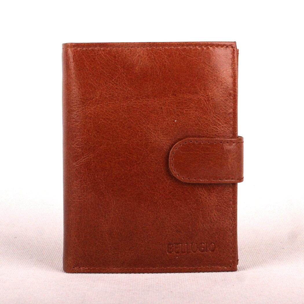Světlehnědá (cognac) kožená pánská peněženka Bellugio