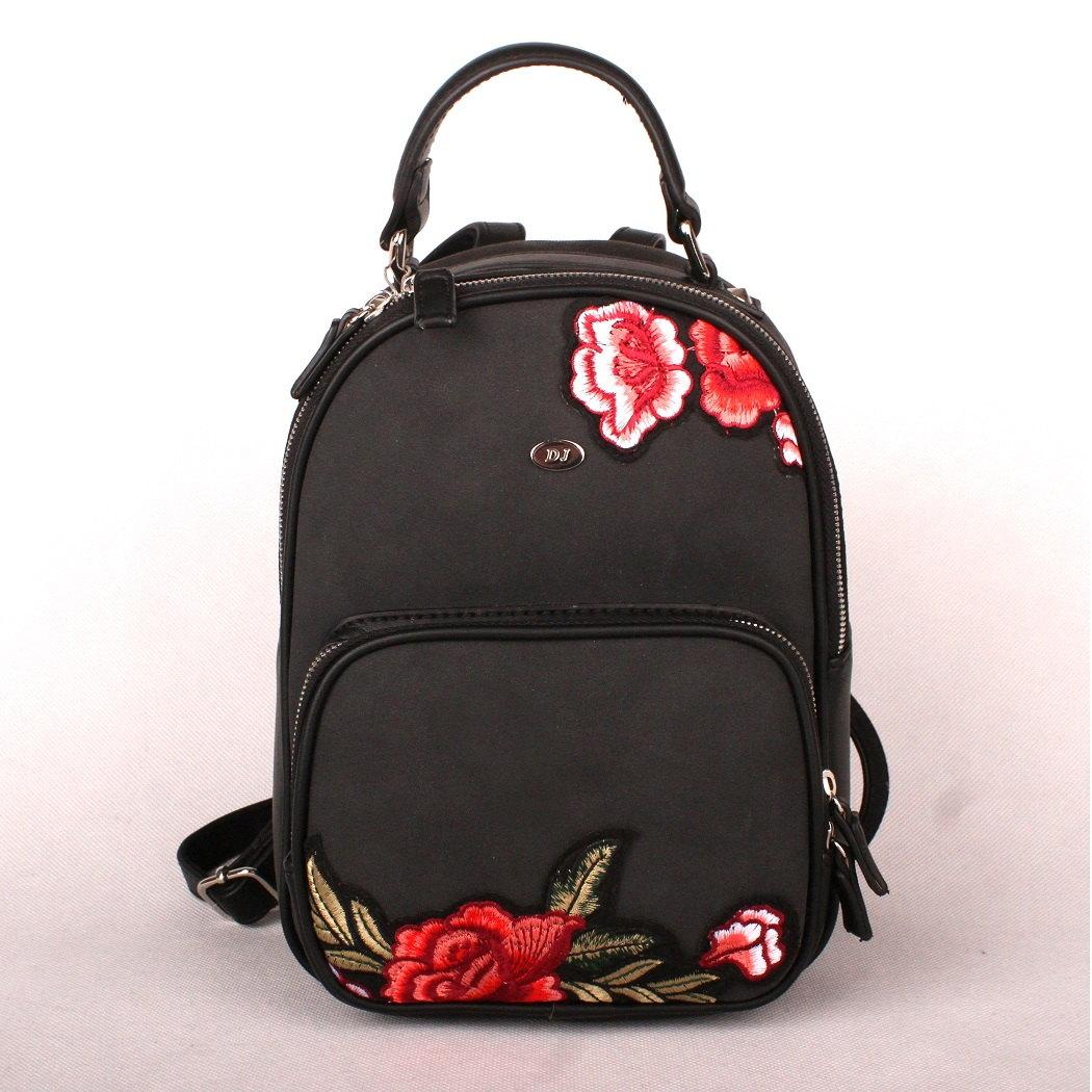 Městský malý černý batoh David Jones 5645-2 s obsahem 7l