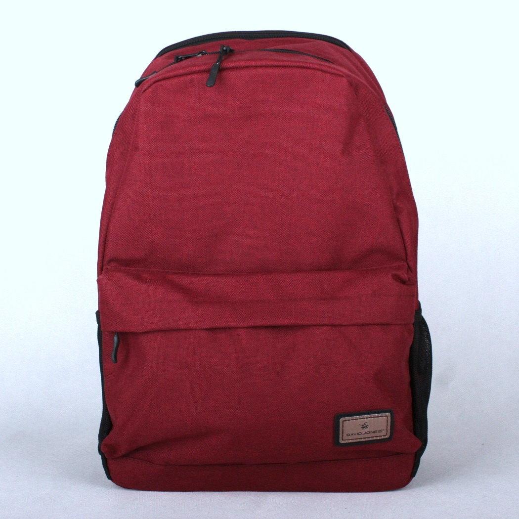 Tmavačervený volnočasový batoh David Jones PC-023 s obsahem cca. 22l