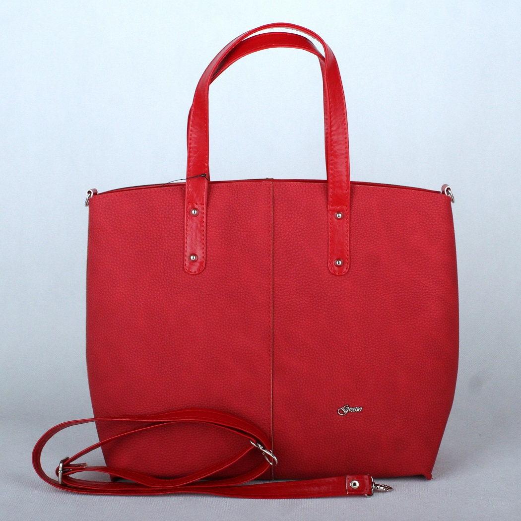 Velká červená kabelka do ruky Grosso