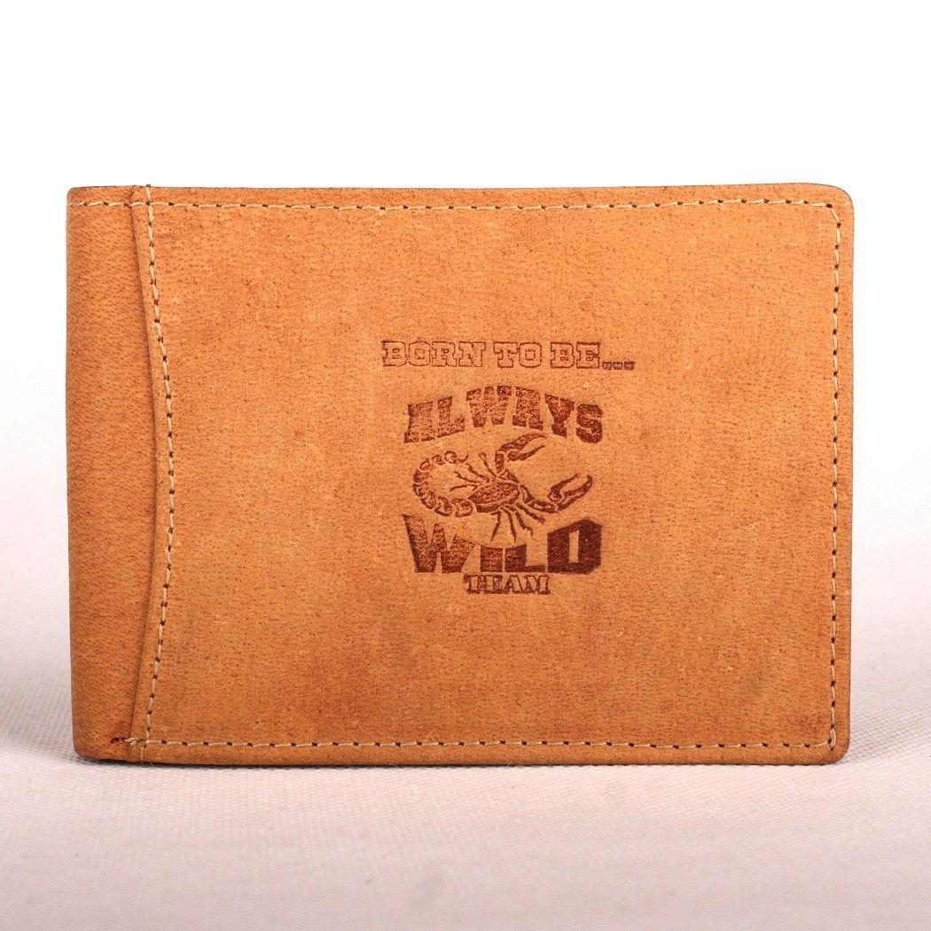 Světlehnědá kožená peněženka Always Wild se štírem