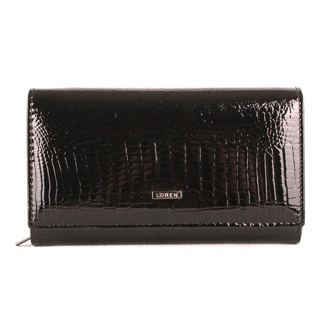 Černá kožená peněženka Loren