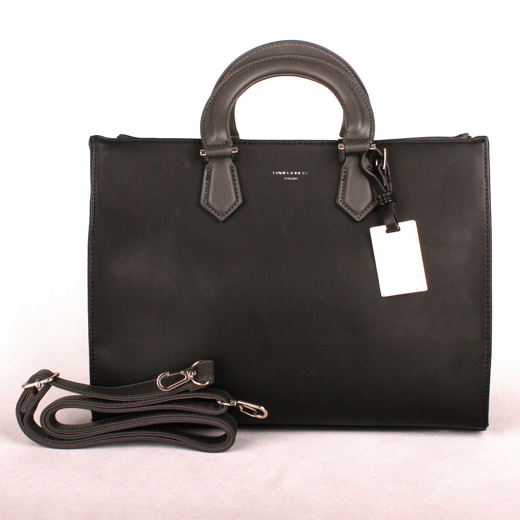 Černá středně velká kabelka do ruky David Jones CM3581