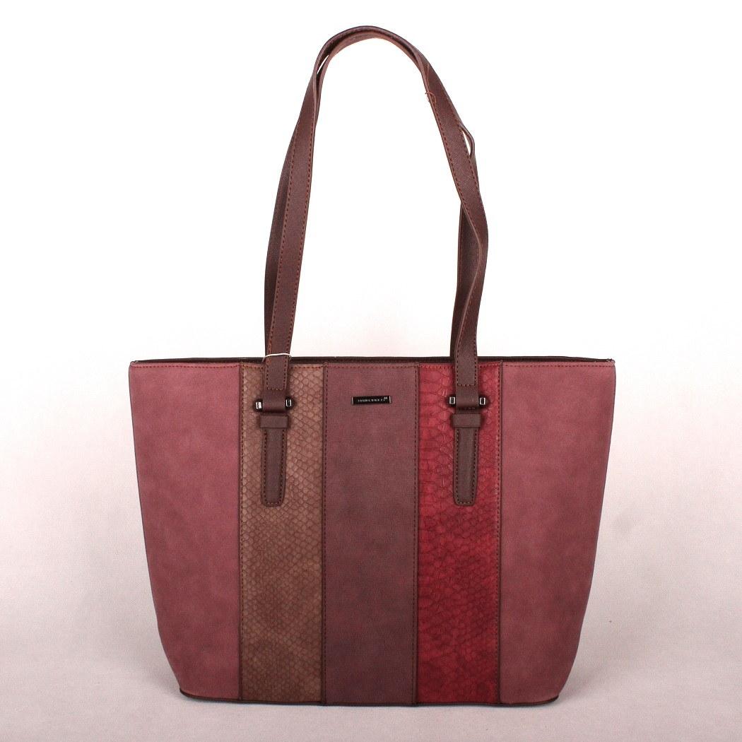 Velká tmavěčervená kabelka na rameno David Jones 5644-2