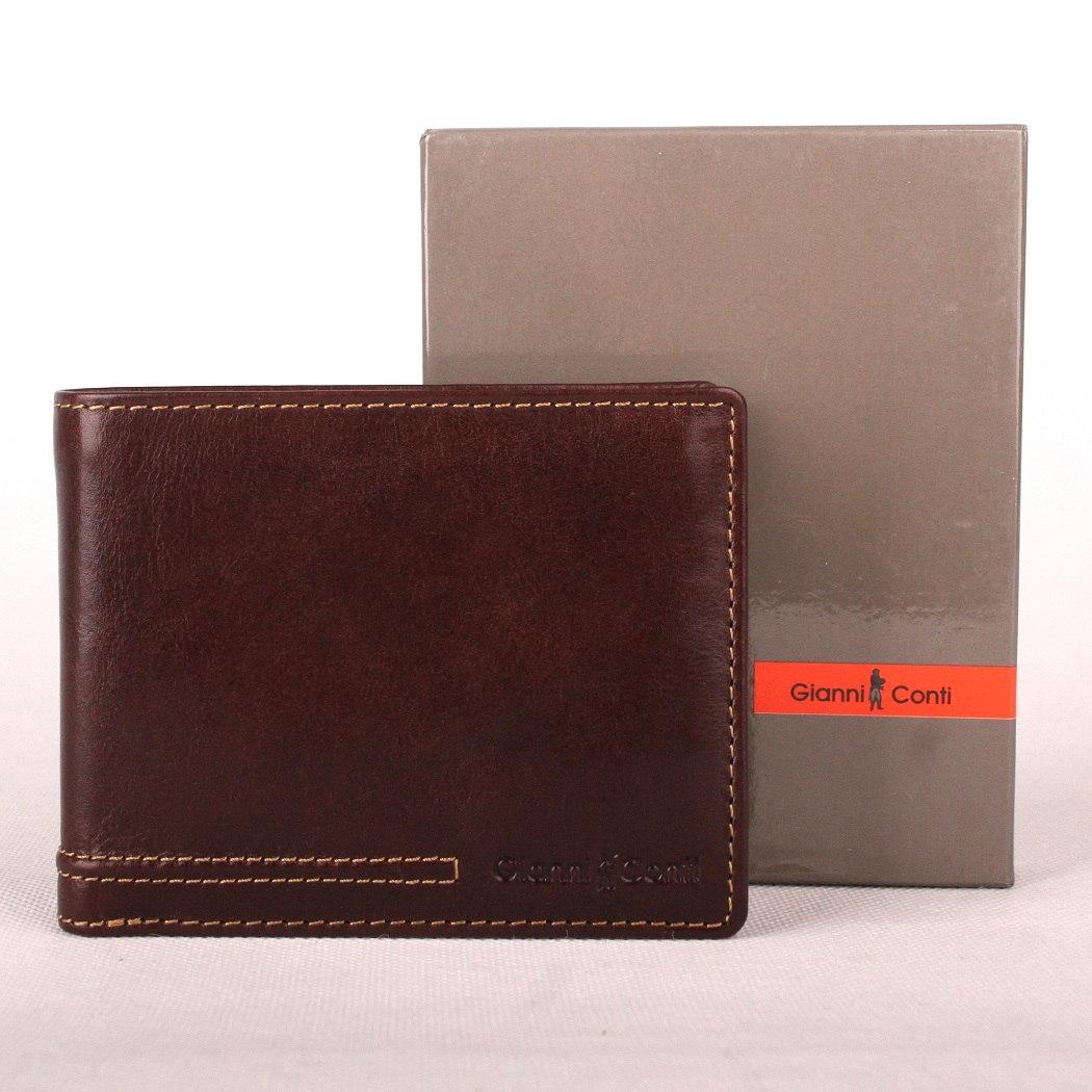 Hnědá pánská kožená luxusní peněženka Gianni Conti no. 707100